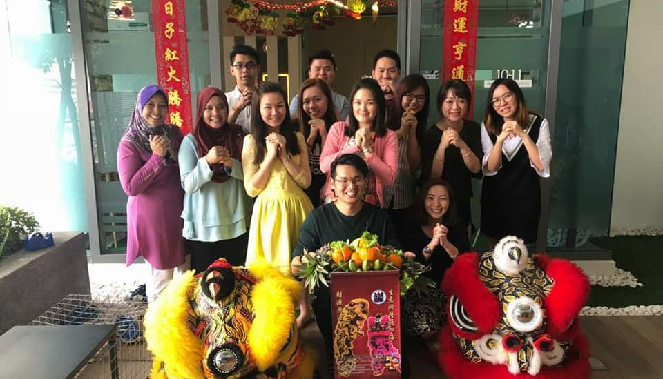 Chinese New Year Lion Dance Celebration